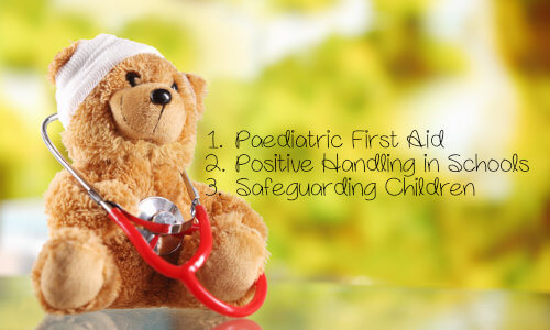 Paediatric first aid, positive handling & safeguarding children discounted course bundle