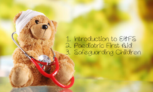 Introduction to EYFS, paediatric first aid training & safeguarding children training, discounted course bundle